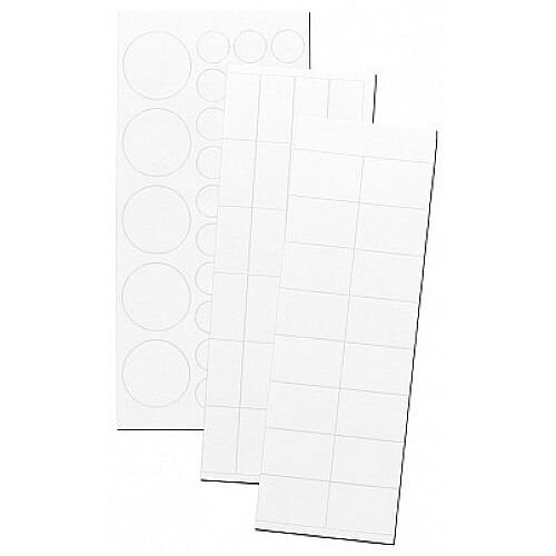 Franken Magnetic White Set of Circle &Rectangular Symbols Pack of 80 MKS 09