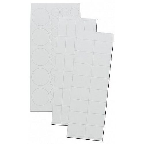 Franken Magnetic Grey Set of Circle &Rectangular Symbols Pack of 80