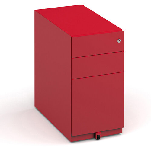 Bisley Slimline Steel Pedestal 300mm Wide - Red