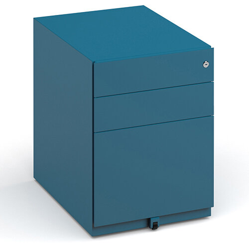 Bisley wide steel pedestal 420mm wide - blue