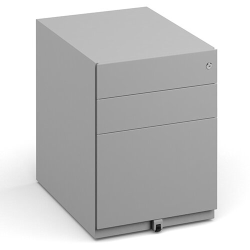 Bisley Wide Steel Pedestal 420mm Wide - Goose Grey