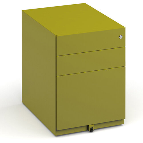 Bisley Wide Steel Pedestal 420mm Wide - Green