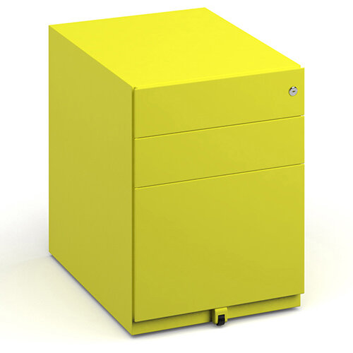 Bisley wide steel pedestal 420mm wide - yellow