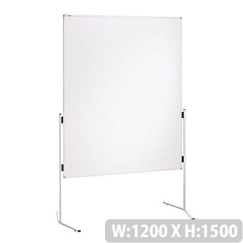 Franken ECO Training Board Magnetic Whiteboard Aluminium Legs 1200x1500mm MT4011