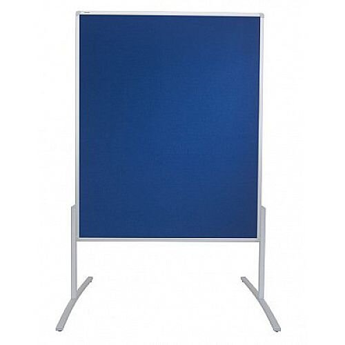 Franken PRO Training Board Blue Felt/Lacquered Whiteboard Double Sided 1200x1500mm MT801303