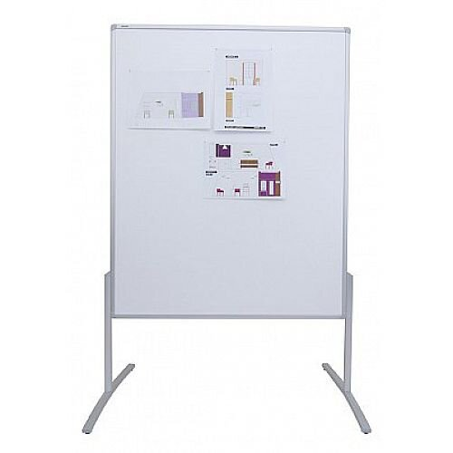 Franken PRO Training Board Grey Felt/Lacquered Whiteboard Double Sided 1200x1500mm MT801312