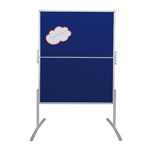Franken PRO Foldable Training Board Blue Felt/Lacquered Magnetic Whiteboard 1200x1500mm MT881303
