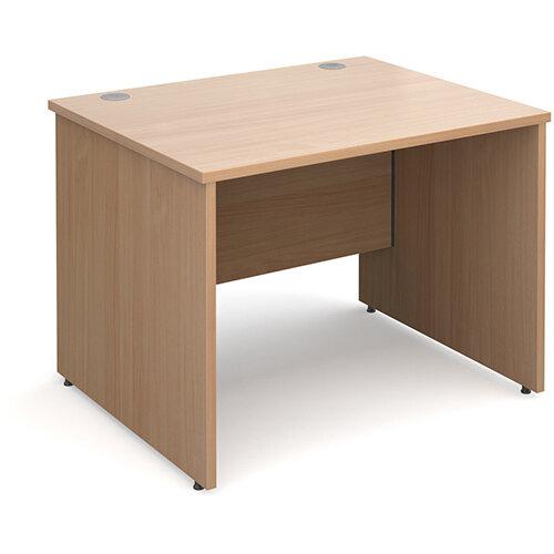 Maestro 25 PL straight desk 1000mm x 800mm - beech panel leg design