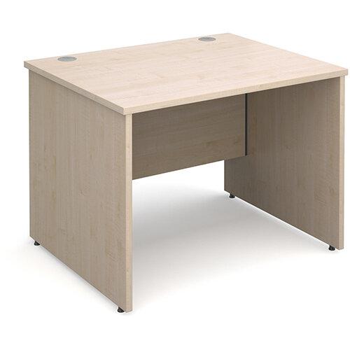 Maestro 25 PL straight desk 1000mm x 800mm - maple panel leg design