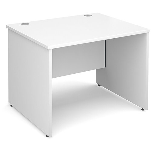 Maestro 25 PL straight desk 1000mm x 800mm - white panel leg design