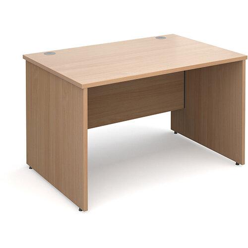 Maestro 25 PL straight desk 1200mm x 800mm - beech panel leg design