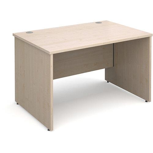 Maestro 25 PL straight desk 1200mm x 800mm - maple panel leg design