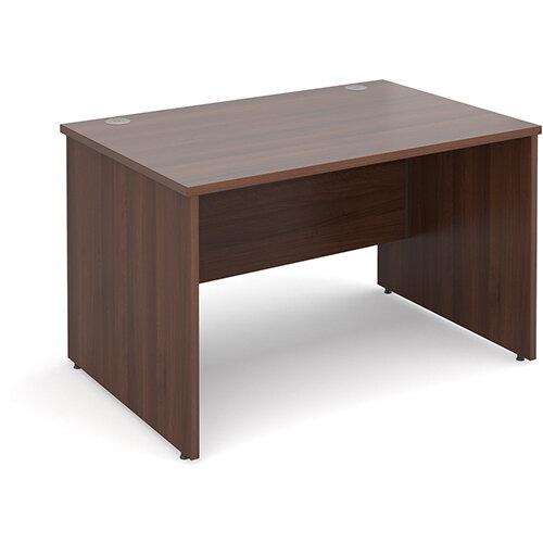 Maestro 25 PL straight desk 1200mm x 800mm - walnut panel leg design