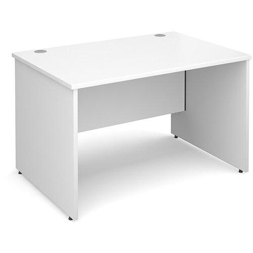 Maestro 25 PL straight desk 1200mm x 800mm - white panel leg design