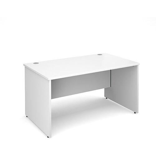 Maestro 25 PL straight desk 1400mm x 800mm - white panel leg design