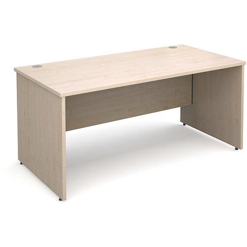 Maestro 25 PL straight desk 1600mm x 800mm - maple panel leg design