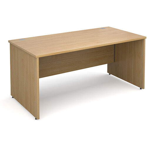 Maestro 25 PL straight desk 1600mm x 800mm - oak panel leg design