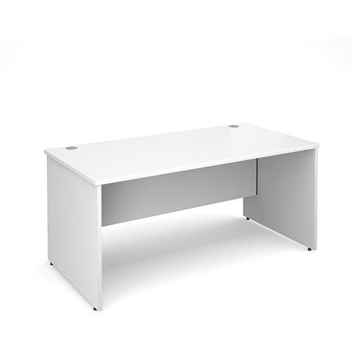 Maestro 25 PL straight desk 1600mm x 800mm - white panel leg design