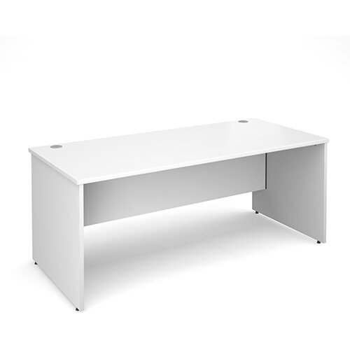 Maestro 25 PL straight desk 1800mm x 800mm - white panel leg design