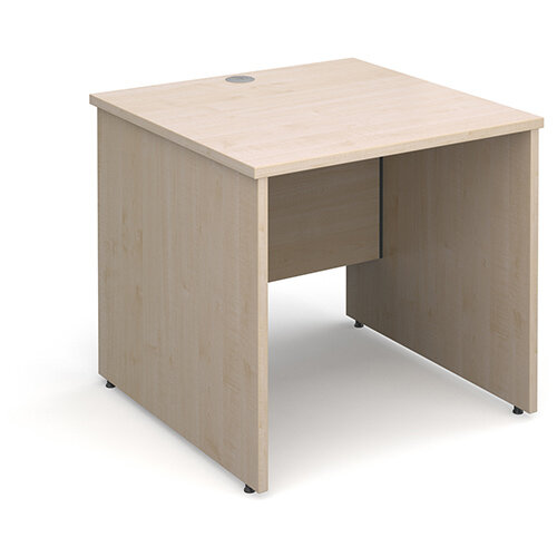 Maestro 25 PL straight desk 800mm x 800mm - maple panel leg design