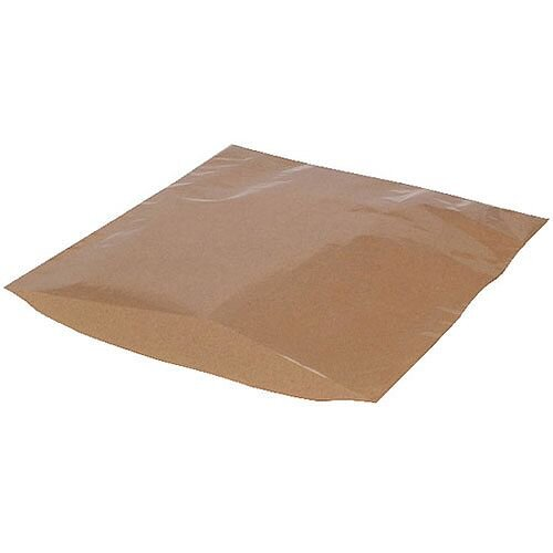 MyCafe Kraft Film Front Bags 215x215mm Brown Pack of 1000 303256