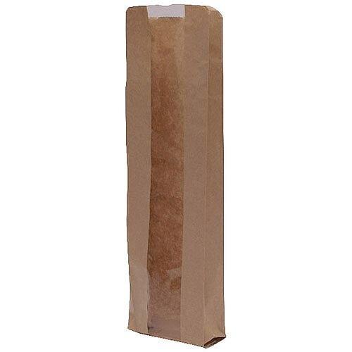 MyCafe Kraft Window Baguette Bags 100x150x355mm Brown Pack of 1000 303251