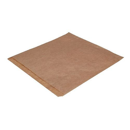 MyCafe Dependable Ribbed Kraft Bags Strung 215x215mm Brown Pack of 1000 201203S