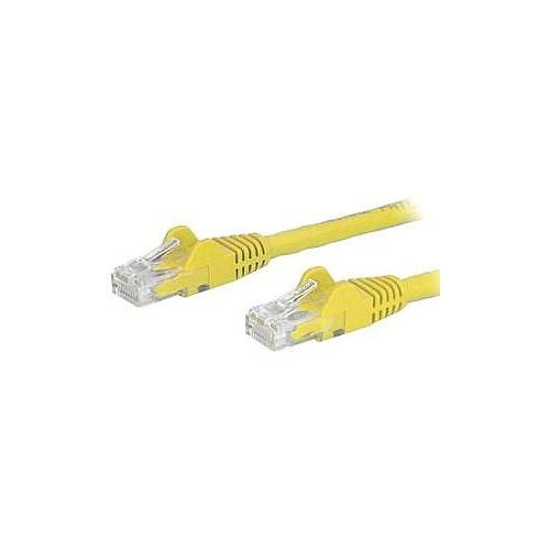 StarTech 5m Yellow Cat6 Patch Cable with Snagless RJ45 Connectors Long Ethernet Cable 5 m N6PATC5MYL