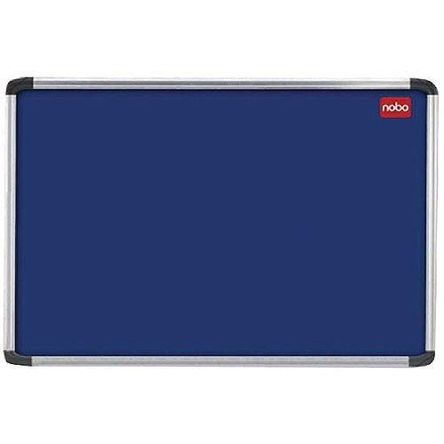 Nobo Blue Felt Notice Board 2400 x 1200mm Aluminium Frame 30230185