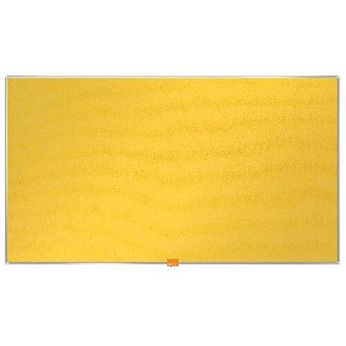 Nobo Widescreen Felt Noticeboard 890x500mm Yellow 1905319