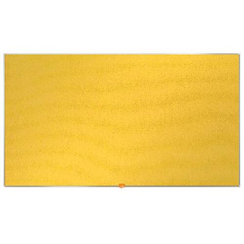Nobo Widescreen Felt Noticeboard 1220x690mm Yellow 1905320
