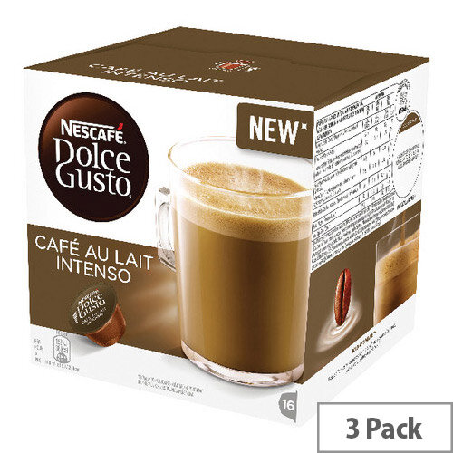 Nescafe Dolce Gusto Cafe au Lait Intenso Capsules Pack of 48 12346512
