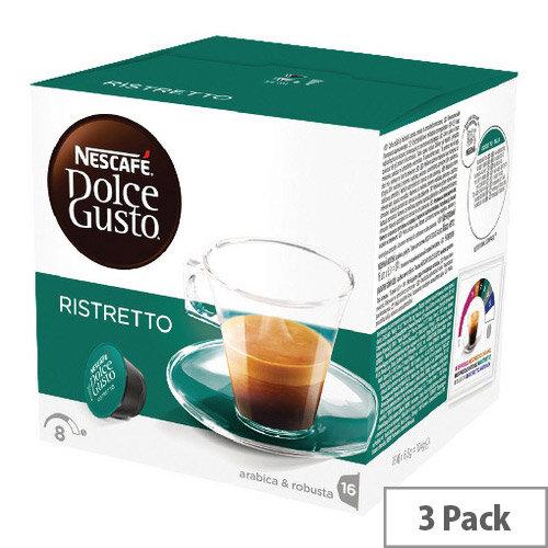 Nescafe Dolce Gusto Espresso Ristretto Capsules Pack of 48 12219255