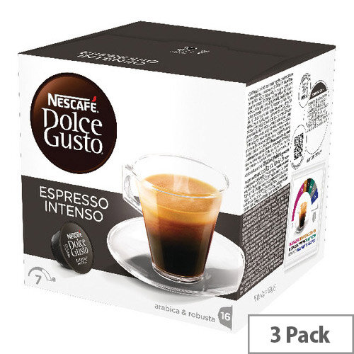 Nescafe Dolce Gusto Espresso Intenso Capsules Pack of 48 12048955