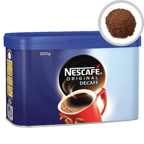 Nescafe Original Decaffeinated Instant Coffee Tin 500g Pack of 1 12284100