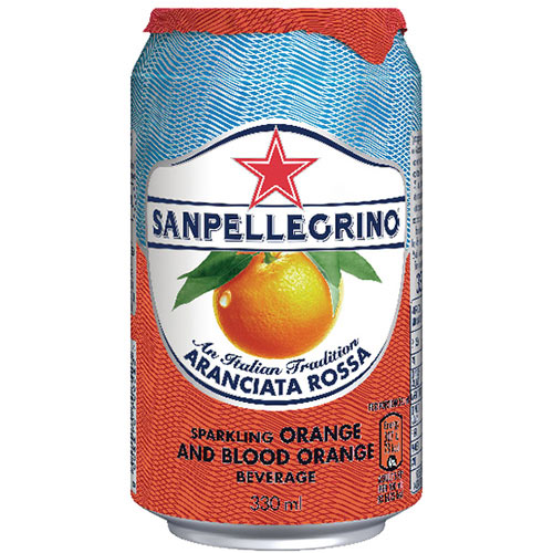 San Pellegrino Sparkling Blood Orange 330ml Can Pack of 24 12365783