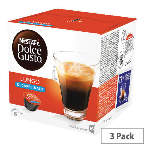 Nescafe Dolce Gusto Lungo Decaffeinated Capsules Pack of 48 12219256