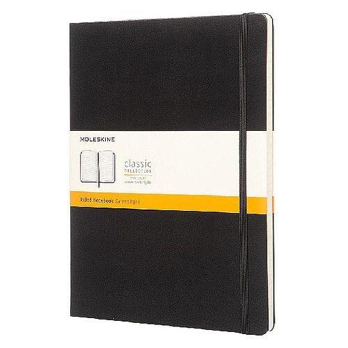 Moleskine Notebook Hard Cover Ruled Extra Large Black QP090