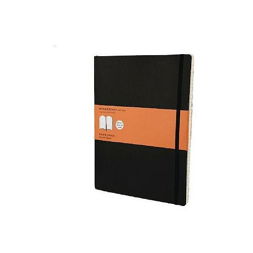 Moleskine Notebook Soft Cover Extra Large 190 x 250mm Ruled Black QP621