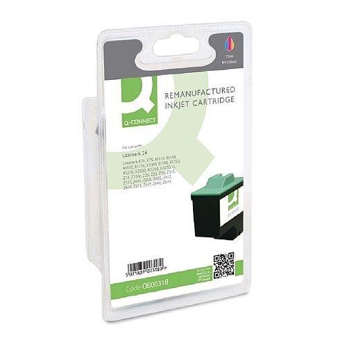 Lexmark 26 Compatible Colour Ink Cartridge 10N0026 Q-Connect