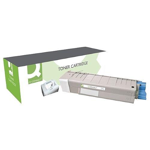 OKI 43865708 Compatible Black Toner Cartridge Q-Connect