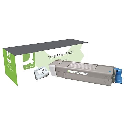 OKI 43872307 Compatible Cyan Toner Cartridge Q-Connect