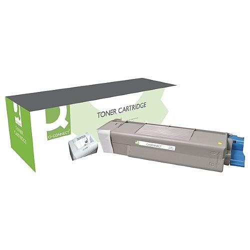 OKI 43872305 Compatible Yellow Toner Cartridge Q-Connect