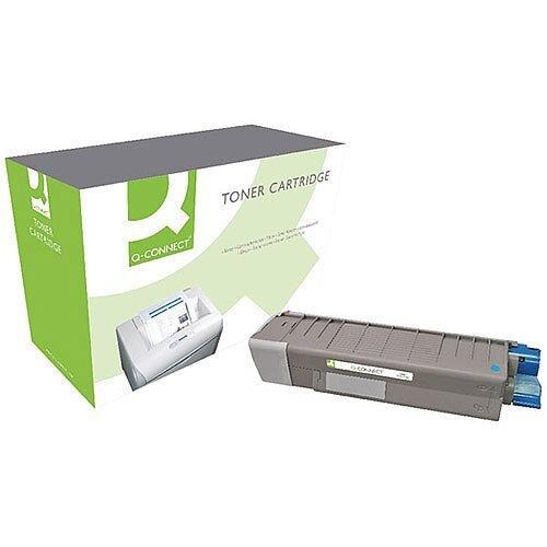 OKI 44315307 Compatible Cyan Toner Cartridge Q-Connect