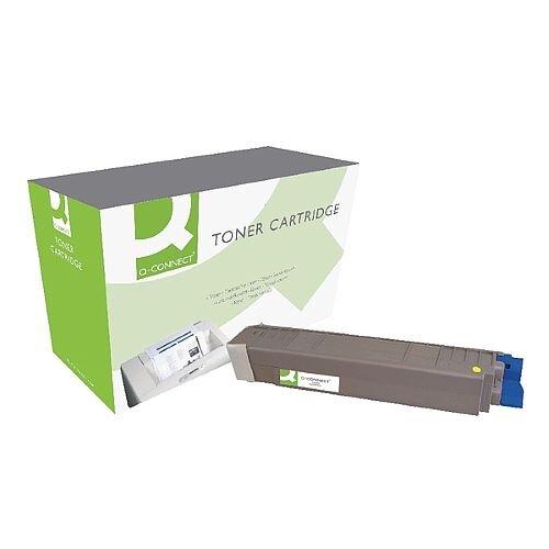 OKI 44059209 Compatible Yellow Toner Cartridge Q-Connect