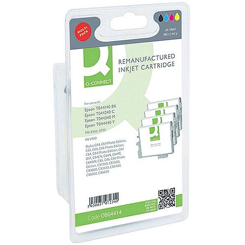 Q-Connect Epson T044140BA Ink Cartridge Pack KCMY 4 Pack T044140BA-COMP
