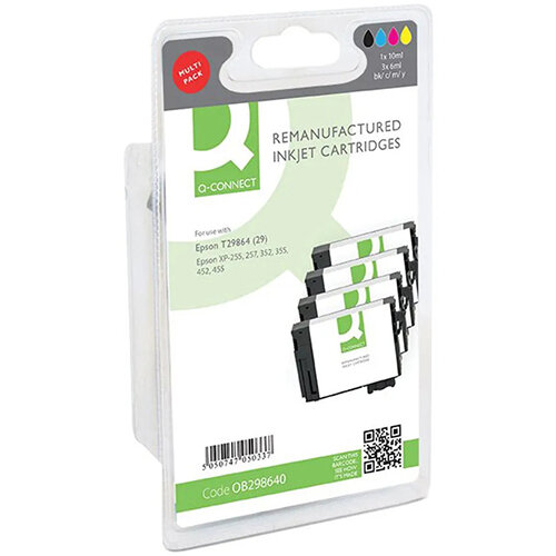 Q-Connect Epson T29864 Ink Cartridge Pack of 4 Strawberry T298640-COMP