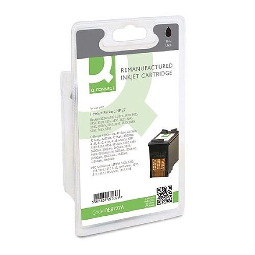 HP No 27 Compatible Black Inkjet Cartridge C8727A Q-Connect