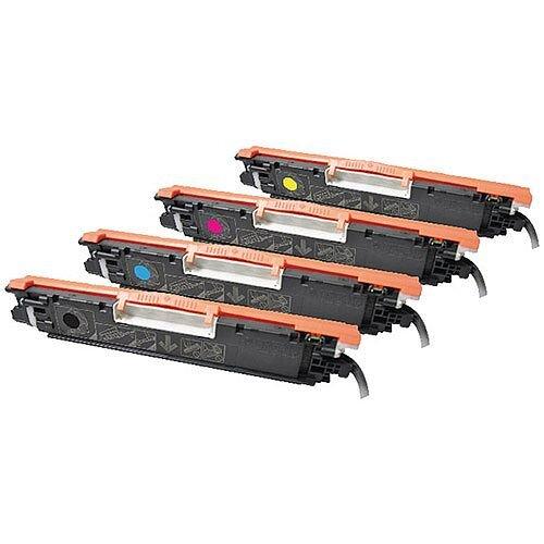 HP 126A Compatible 4-Colour Toner Cartridges Q-Connect CF341A