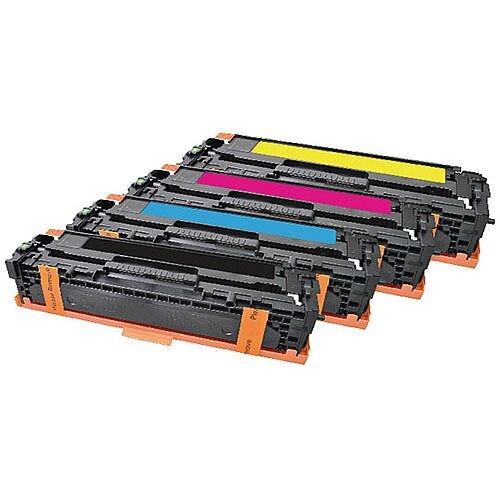 HP 125A Compatible 4-Colour Toner Cartridges Q-Connect CB540A